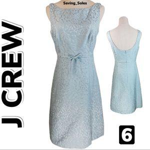 J Crew Embossed Cotton/Silk Combo Dress (6)